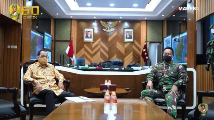 Kasad Andika Perkasa, Terima Kunjungan Menteri Perhubungan Budi Karya Sumadi