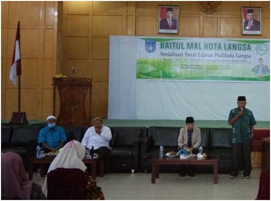 Baitul Mal Langsa, Gelar Sosialisasi Surat Edaran Walikota