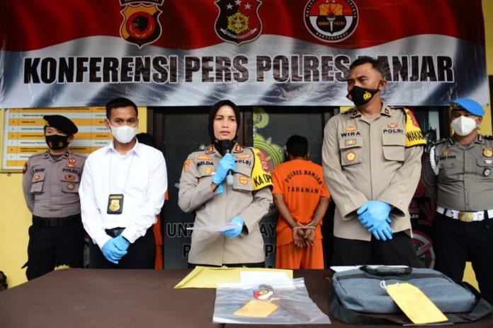 Kapolres Banjar, Konferensi Pers Penangkapan 3 Pelaku Pencurian