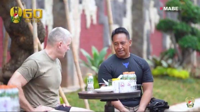 Jenderal Andika Perkasa, Olahraga Bersama Major General Jonathan Braga
