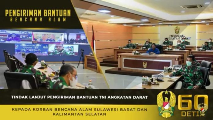 Tindak Lanjut Pengiriman Bantuan TNI AD kepada Korban Bencana Alam Sulbar dan Kalsel