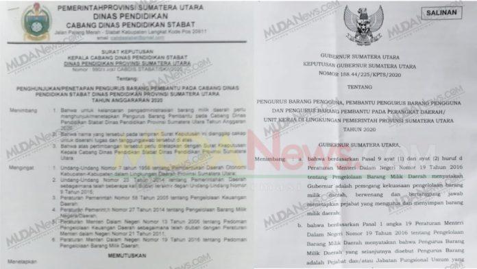 Kacab Stabat Dinas Pendidikan Sumut Mimpi Jadi Gubernur terkait Pengurus dan Pembantu Barang