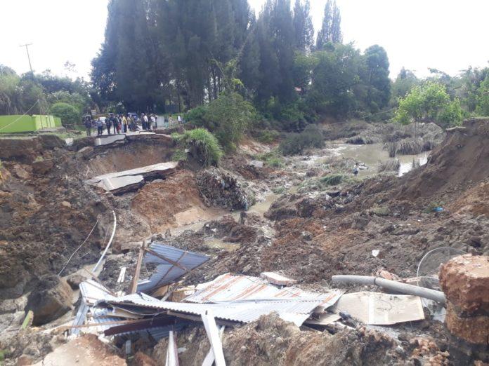Jalan Nasional Sidikalang-Medan Putus, Satma AMPI Apresiasi Bupati Gerak Cepat