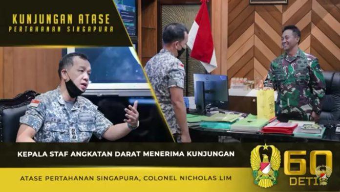 Jenderal Andika Perkasa, Menerima Kunjungan Atase Pertahanan Singapura