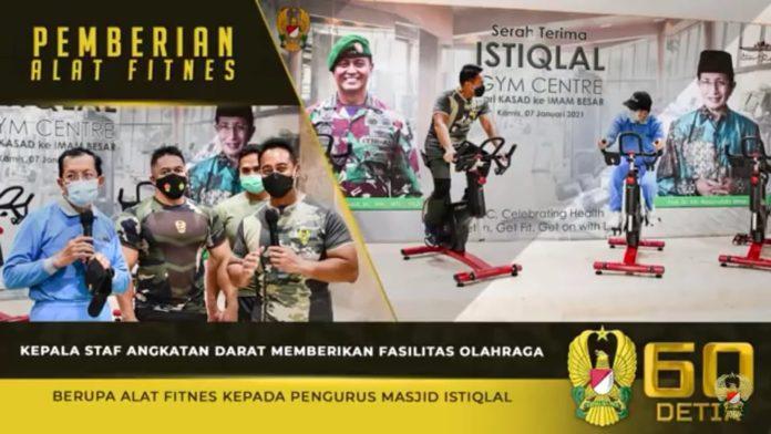 Jenderal TNI Andika Perkasa, Berikan Fasilitas Olahraga kepada Pengurus Masjid Istiqlal