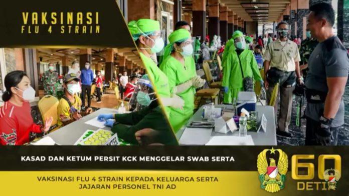 Kasad Andika Perkasa, Gelar Swab serta Vaksinasi Flu 4 Strain kepada Keluarga dan Personel TNI AD