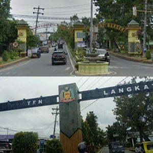 Kejuruan Stabat dan PB MBN Langkat Pasang Spanduk Protes Di Gerbang Simpang Bupati