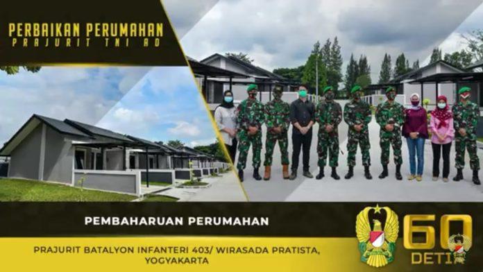 Pembaharuan Perumahan Prajurit Batalyon Infanteri 403/ Wirasada Prastita