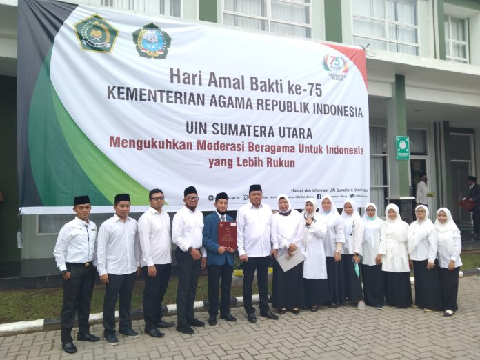 UIN Sumut, Laksanakan Hari Amal Bakti Kementerian Agama