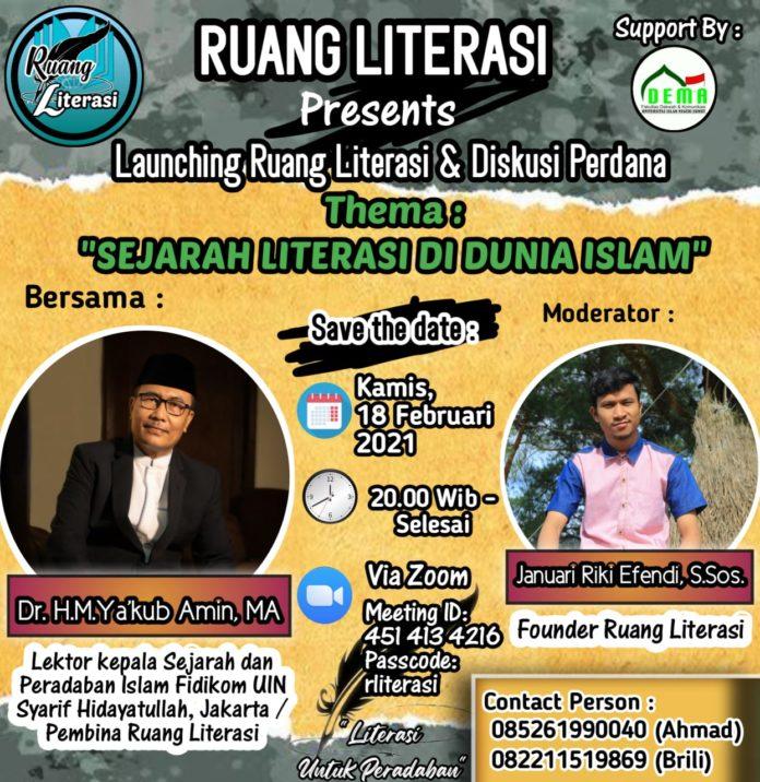 Diskusi Perdana Ruang Literasi
