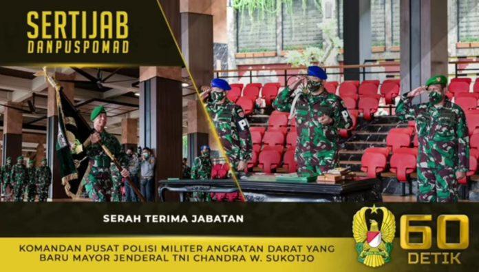 Jenderal TNI Andika Perkasa, Memimpin Sertijab Danpuspomad
