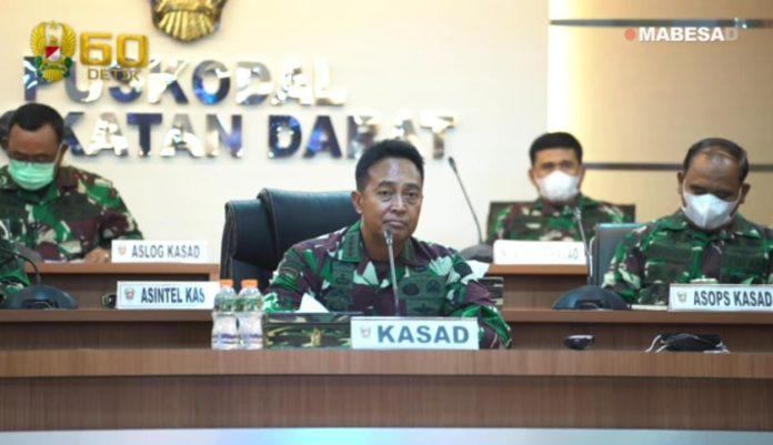 Kasad Andika Perkasa, Menerima Penyerahan Hibah 6 Unit Ambulance dari PT Tebu Mas