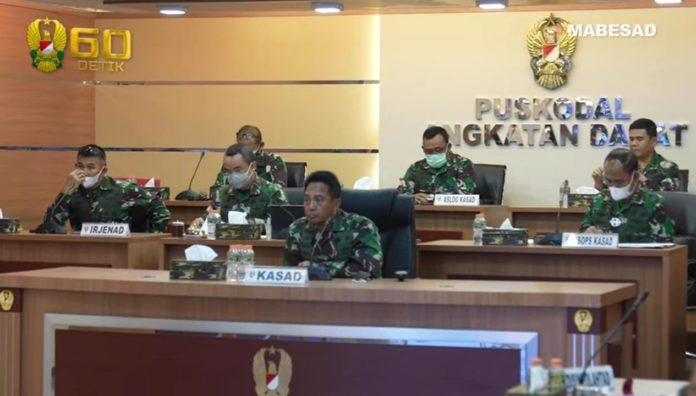 Kasad Andika Perkasa, Teleconference Penanganan Bencana Alam di Kalimantan dan Sulawesi