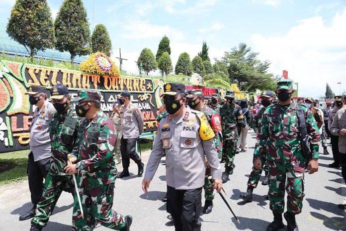 Kapoldasu Dampingi Kalemdiklat Polri dan Danjen Akademi TNI Tinjau Satlat Macan Latsitardanus XLI