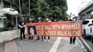 Aksi Solidaritas Myanmar di Jakarta