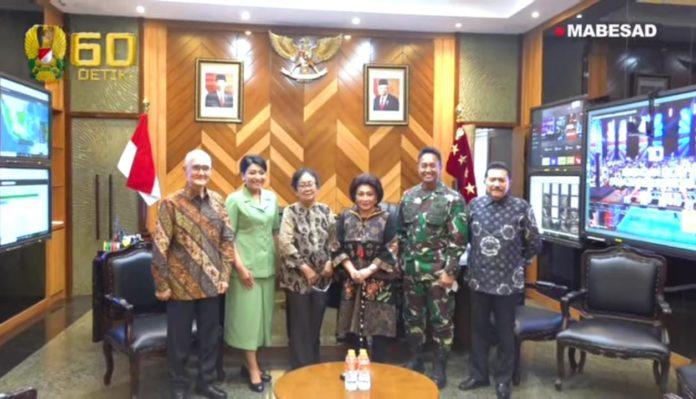 KASAD Jenderal TNI Andika Perkasa, Terima Kunjungan Jenderal TNI (Purn.) Try Sutrisno