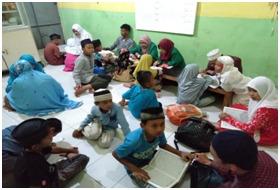 Mahasiswa Prodi Ilmu Al Qur'an dan Tafsir UIN-SU, Laksanakan Kegiatan Pengabdian Masyarakat Mandiri di Desa Kolam