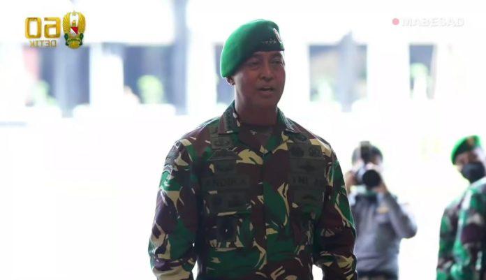 KASAD Andika Perkasa, Pimpin Upacara Laporan Korps Kenaikan Pangkat 16 Pati TNI AD