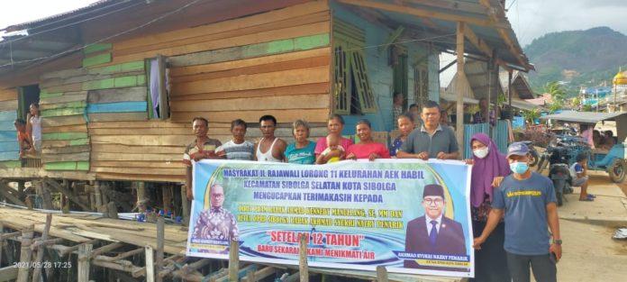 12 Tahun Menanti, Warga Pasir Bidang Berterima Kasih Kepada Ketua DPRD Sibolga dan Direktur PDAM Sibolga