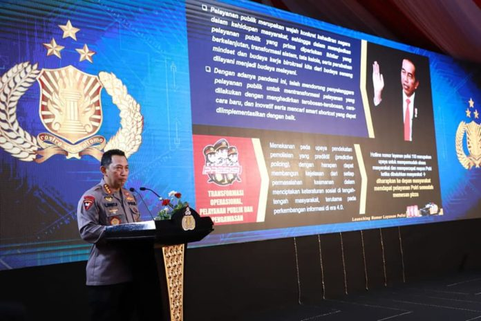 Kapolri dan Panglima TNI, Luncurkan Hotline 110
