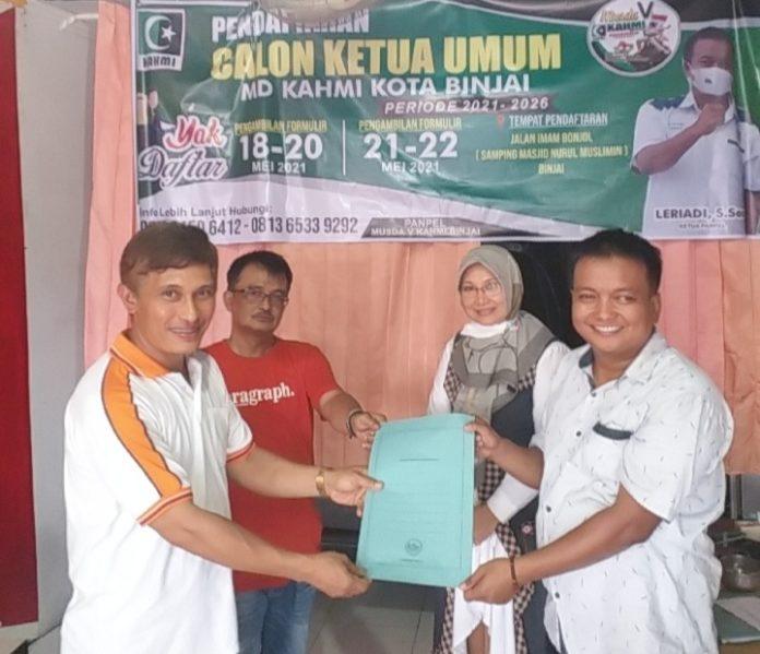 Ruslianto Pendaftar Pertama Caketum MD KAHMI